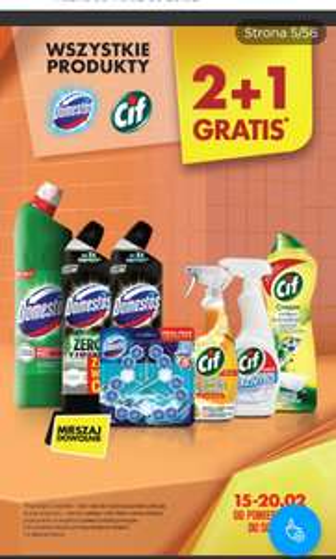 Wszystkie produkty Cif i Domestos 2+1 gratis, Biedronka