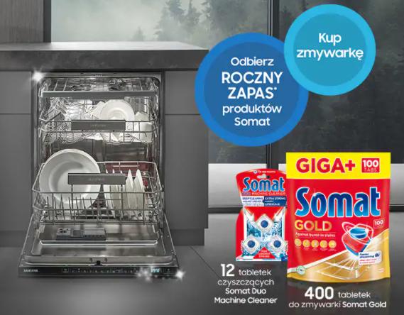 Roczny zapas produktów Somat gratis przy zakupie zmywarek Samsung - wszystkie sklepy