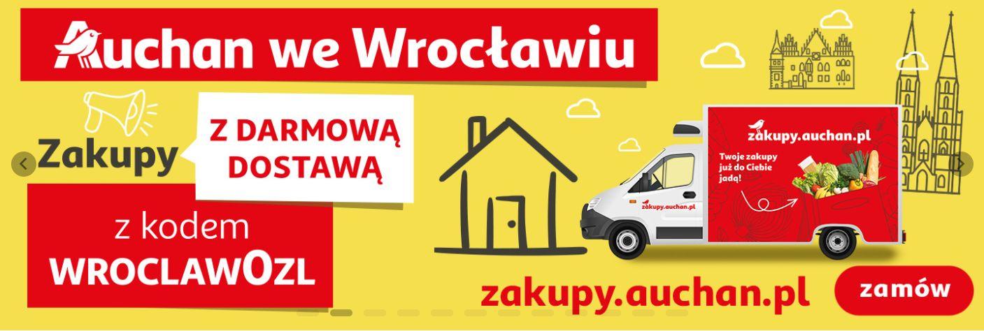 Auchan - Wrocław - darmowa dostawa + gratis!