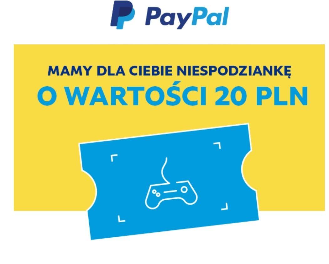 PayPal kupon 20zł dla mniej aktywnych (bez MWZ?)