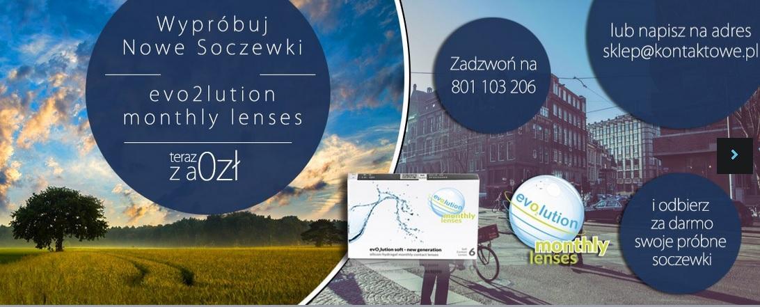 Soczewki kontaktowe evo2lution monthly lenses na miesiąc za FREE