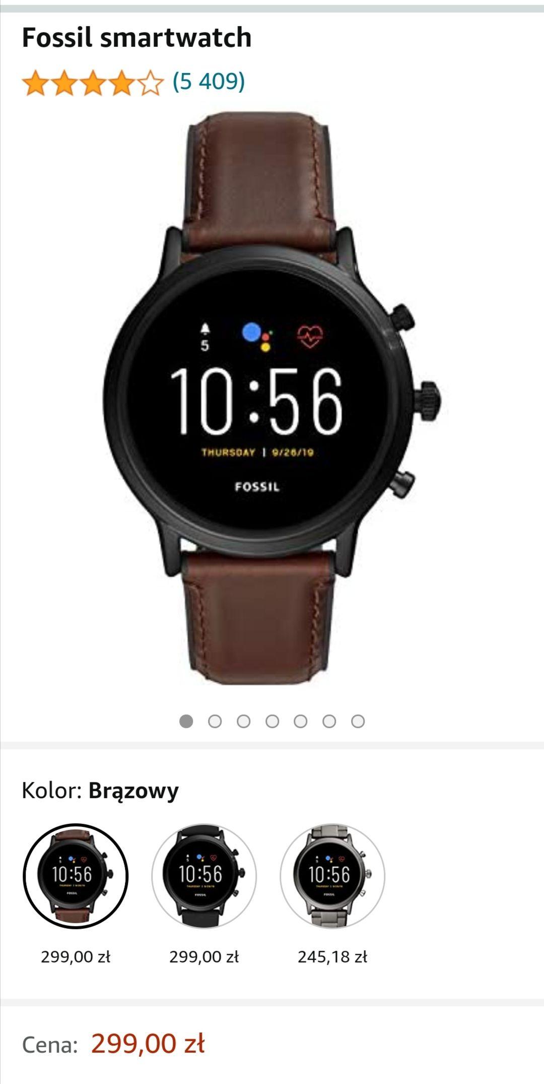 Smartwatch Fossil gen 5 FTW4026