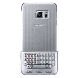 SAMSUNG Keybord Case do Galaxy S6 Edge + srebrne