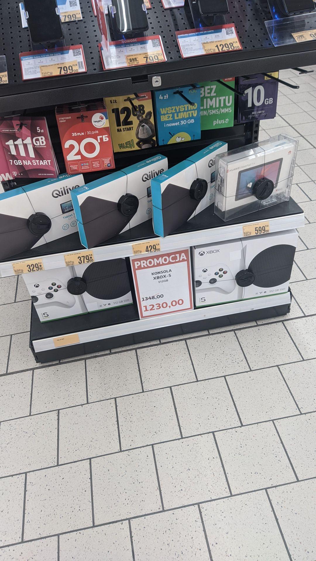 Xbox series s, Auchan Poznań, centrum handlowe m1