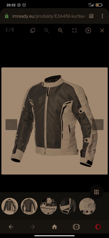 Szara kurtka motocyklowa Adrenaline Meshtec 2.0