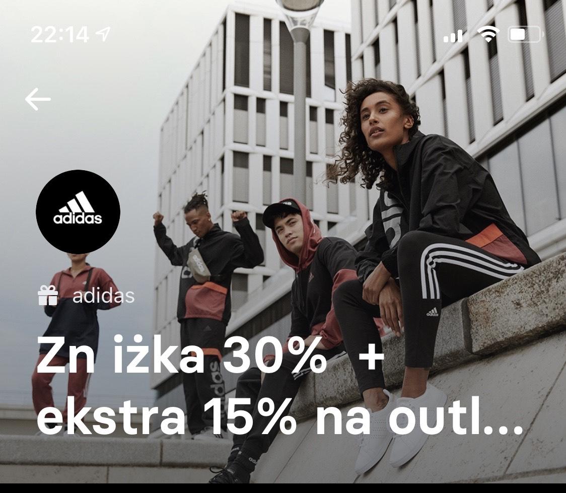 Adidas rabat -30% oraz -15% z kartą Revolut