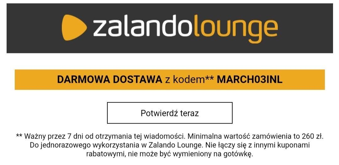Zalando Lounge darmowa dostawa MWZ 260zł