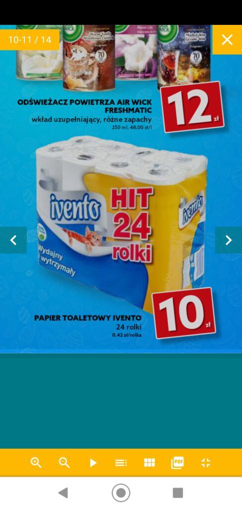 Papier toaletowy Ivento 24 rolki, 0,42 szt. /dealz/
