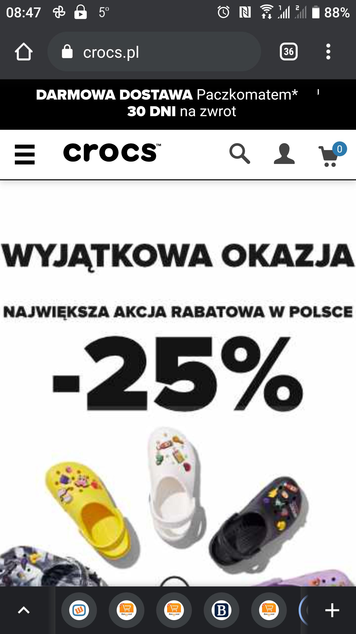 Crocs 25% na wszystkie modele