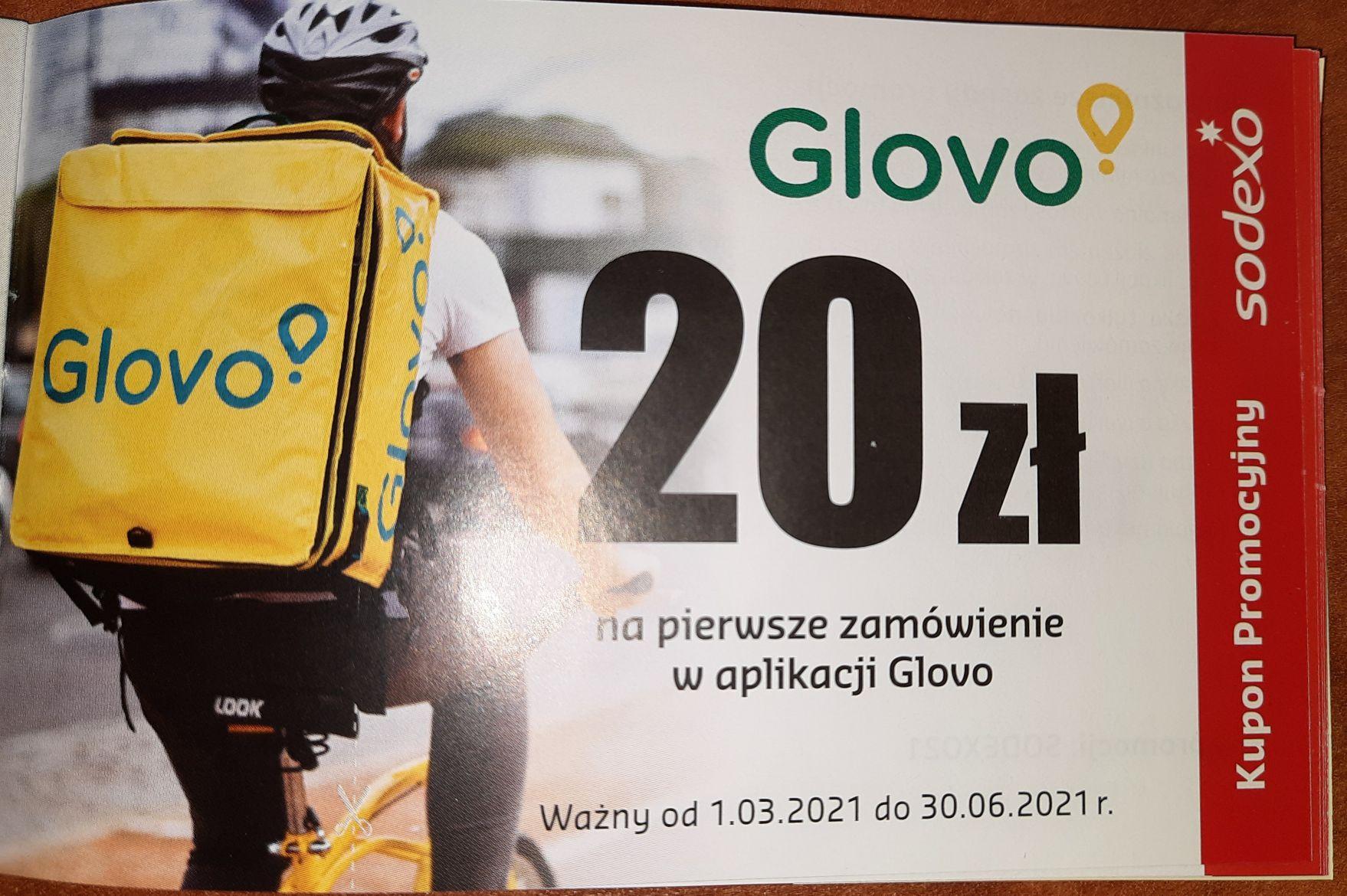 20 zł na pierwsze zamówienie Glovo (kod działa dla wszystkich)
