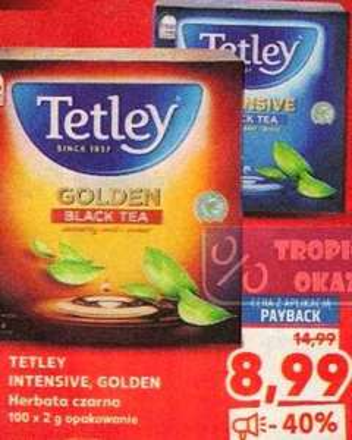 Herbata czarna TETLEY INTENSIVE lub GOLDEN 100szt. Kaufland