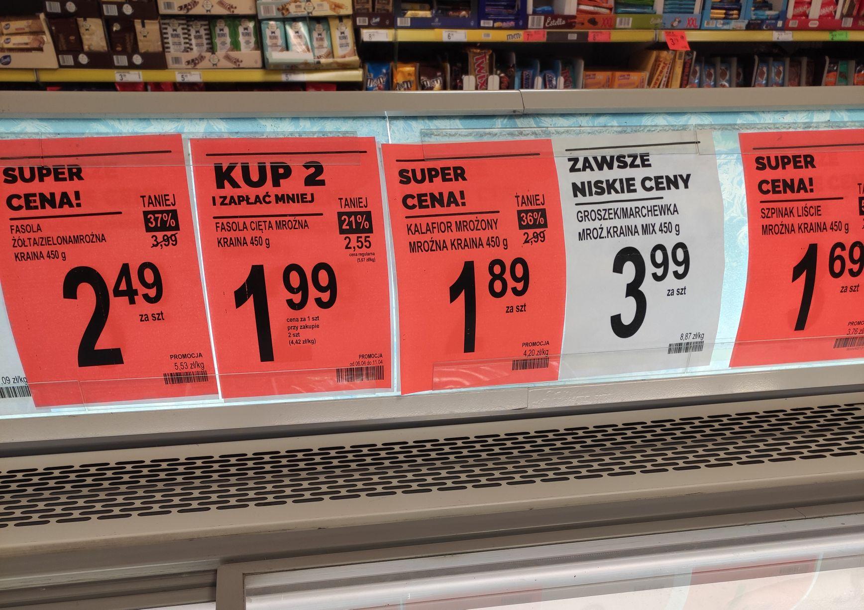 Obniżki cen wybranych produktów 06.04 - Biedronka