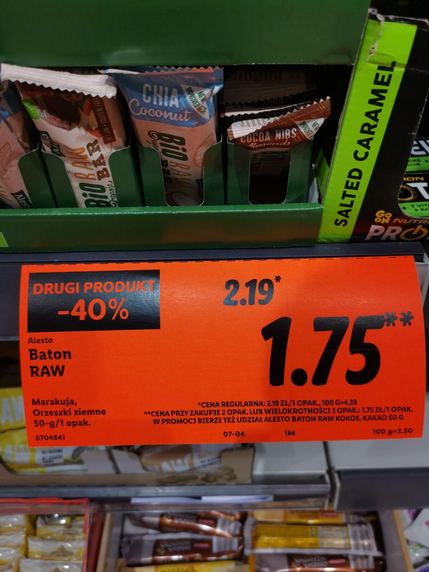 Lidl - Baton RAW drugi produkt za 40%