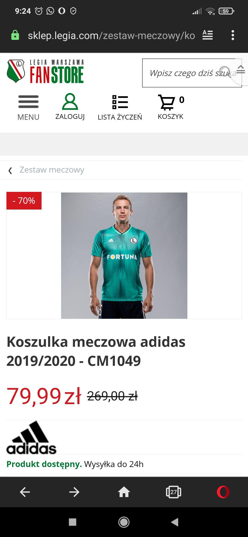 Koszulka meczowa Legia Warszawa adidas 2019/2020 - CM1049