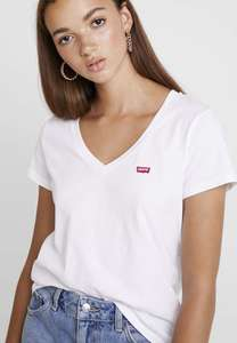 Damska koszulka Levi's® PERFECT V NECK - czarna za 63,9 lub biała za 74,25 @Zalando