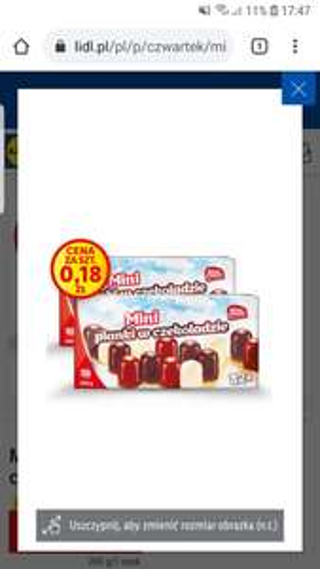 Mini pianki w czekoladzie Lidl