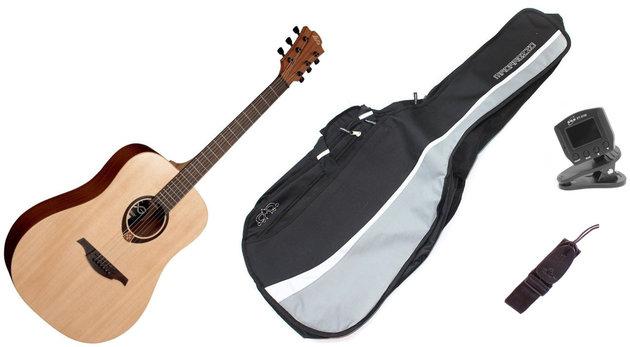 Gitara akustyczna LAG Tramontane T70D Zestaw
