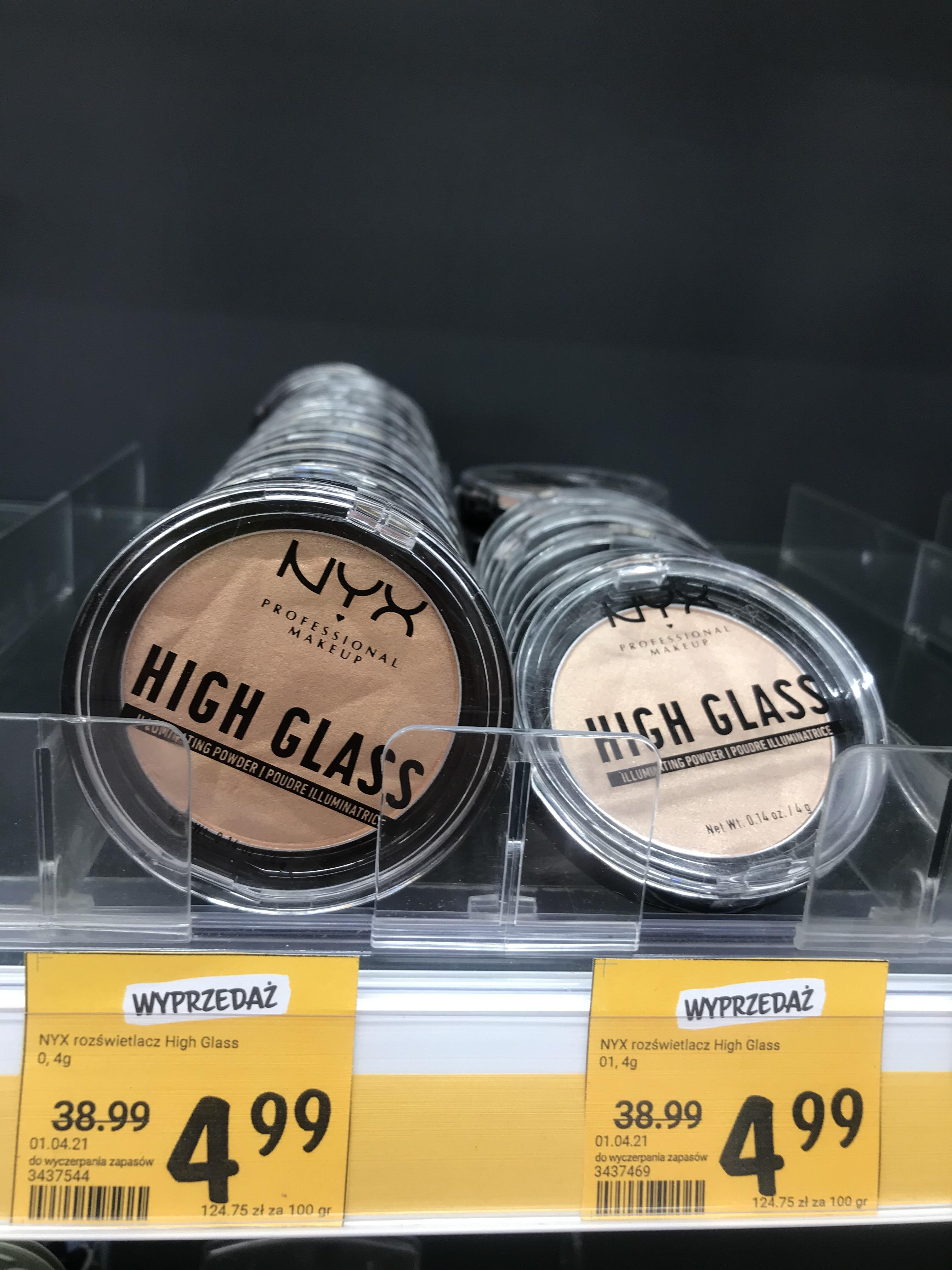 Nyx rozświetlacz High Glass