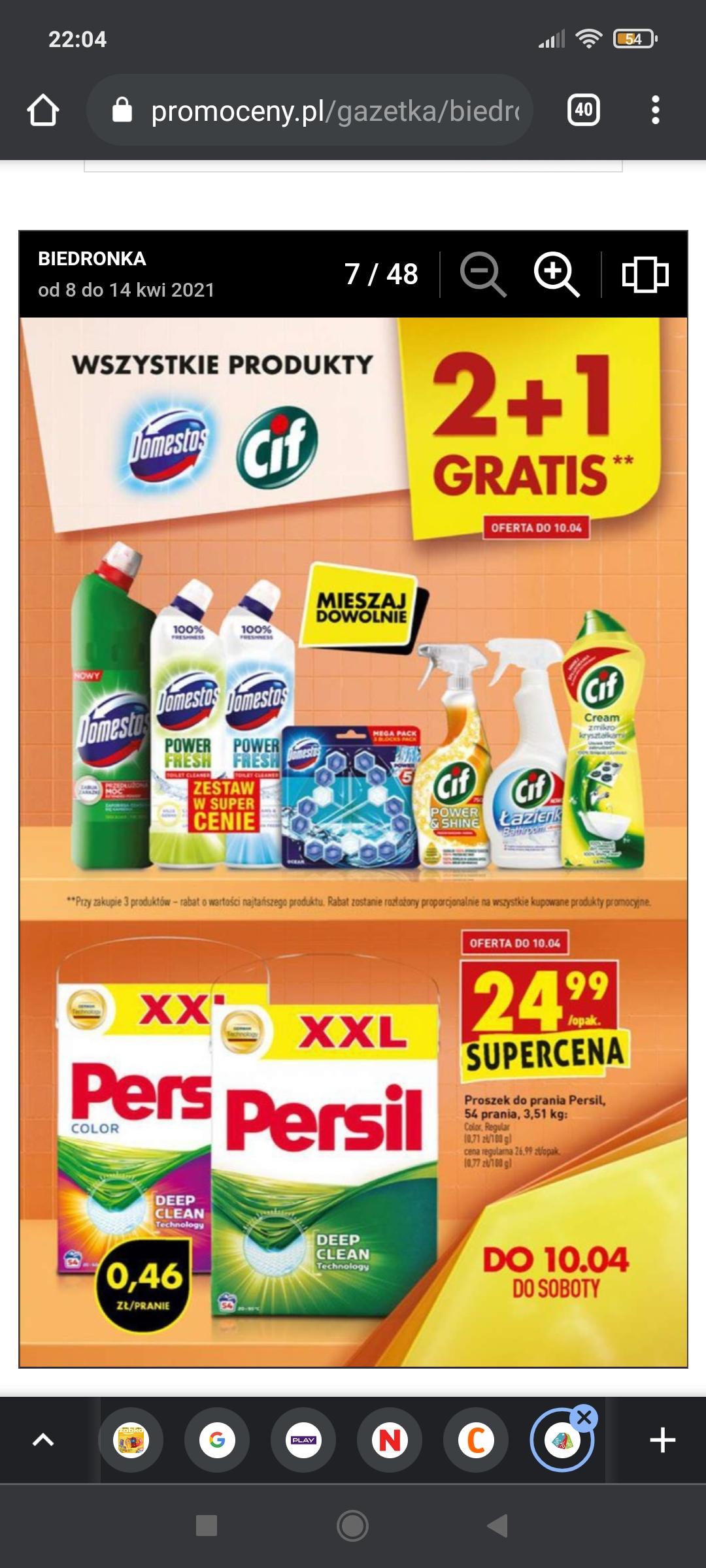 Wszystkie produkty Domestos i Cif 2+1 gratis mieszaj dowolnie w Biedronce
