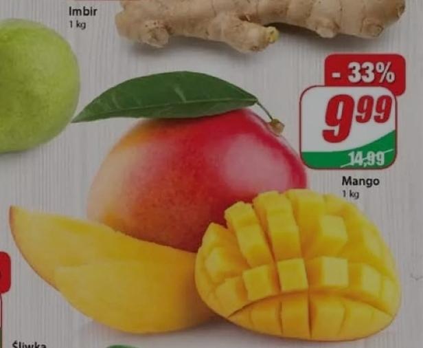Mango 9.99zł/kg Dino