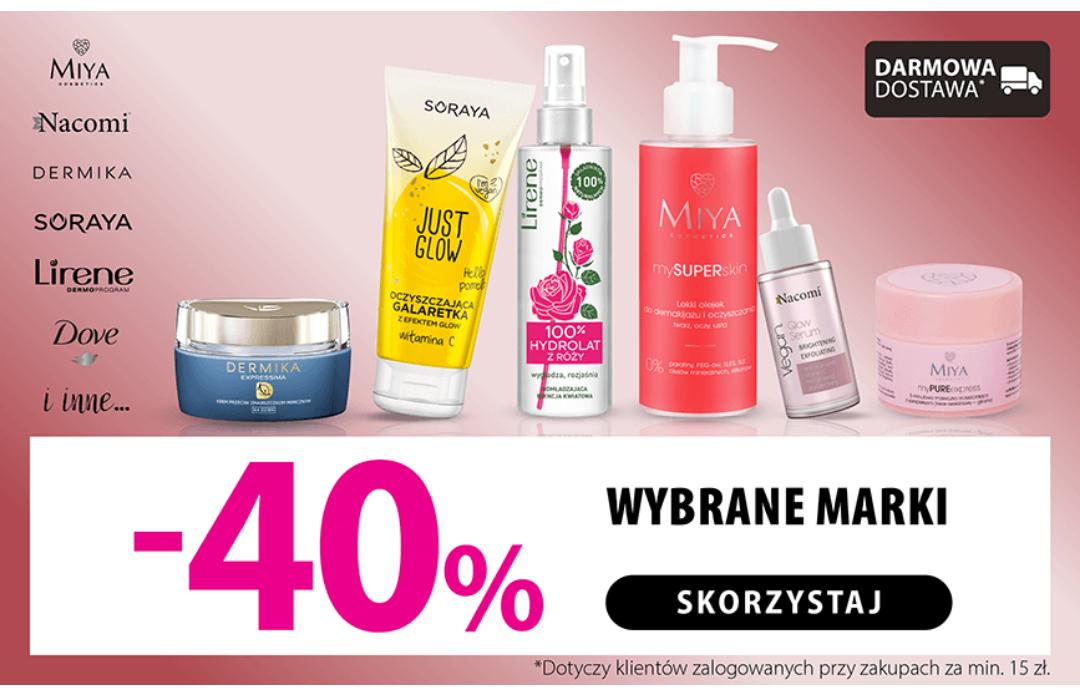 -40% na marki Miya, Nacomi, Dove i inne w drogeriach Hebe // Darmowa dostawa od 15zł