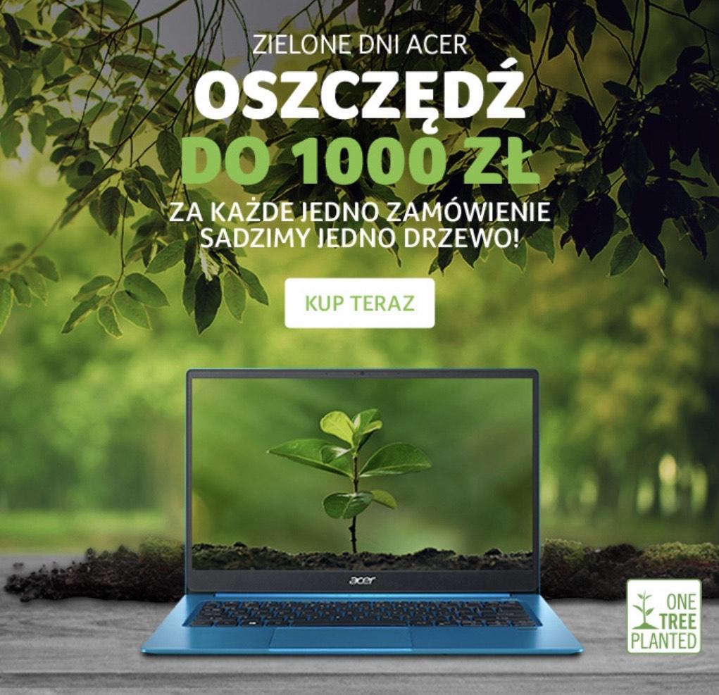 Acer Green Days Rabaty na Laptopy Acer np. Acer Swift 1 za 1499 zł