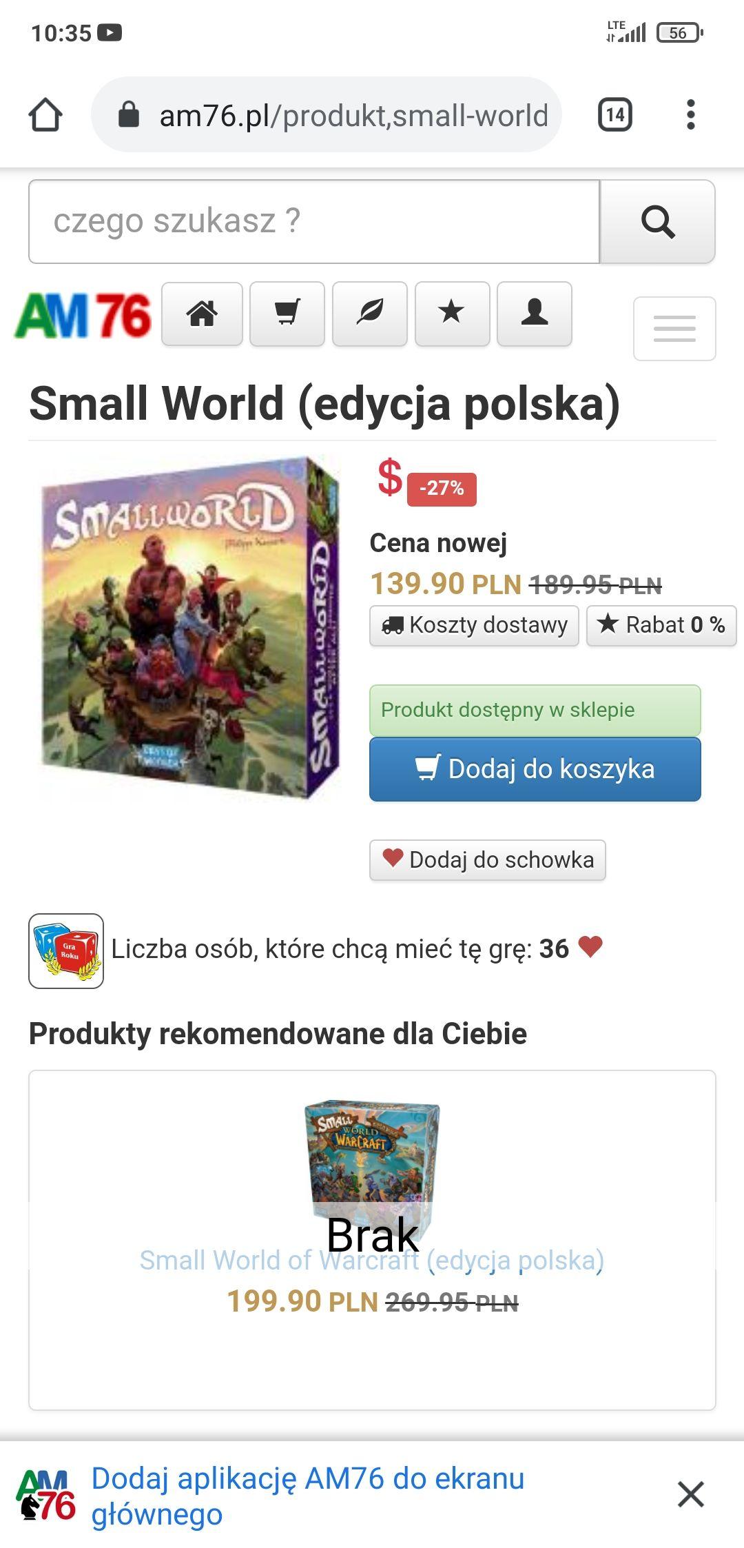 Gra planszowa small world