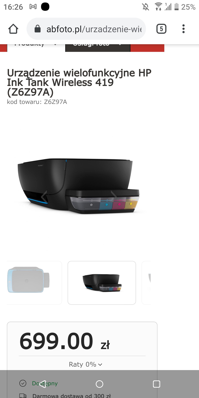 Urządzenie wielofunkcyjne HP Ink Tank Wireless 419 (Z6Z97A)