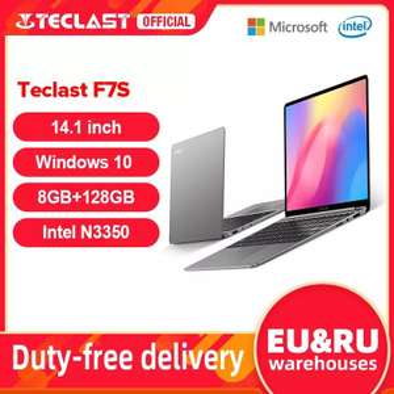 """Laptop Teclast F7S 14,1"""" FHD IPS 8/128GB Windows 10 Intel Apollo Lake N3350 - 266,07$ i wysyłka z Polski"""
