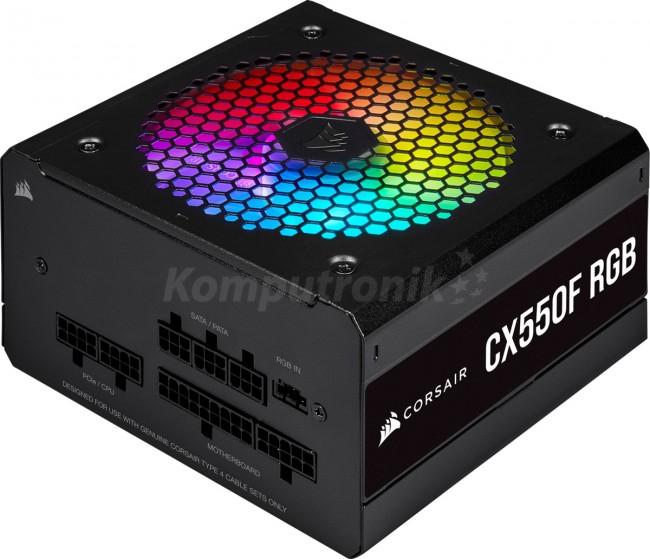 Zasilacz Corsair CX550F CP-9020216-EU w pełni modularny