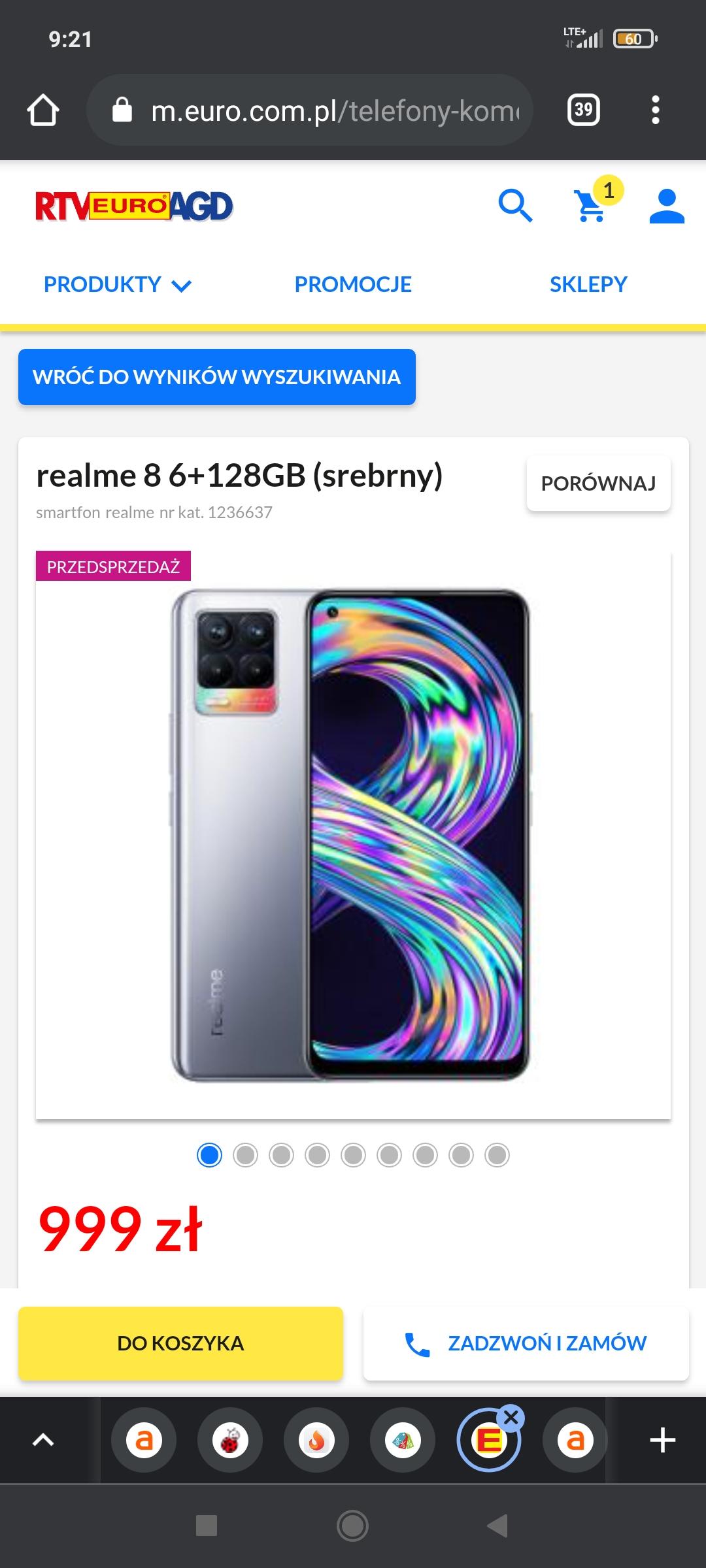 Telefon realme 8 6+128GB srebrny i czarny w przedsprzedaży w RTVeuroAGD