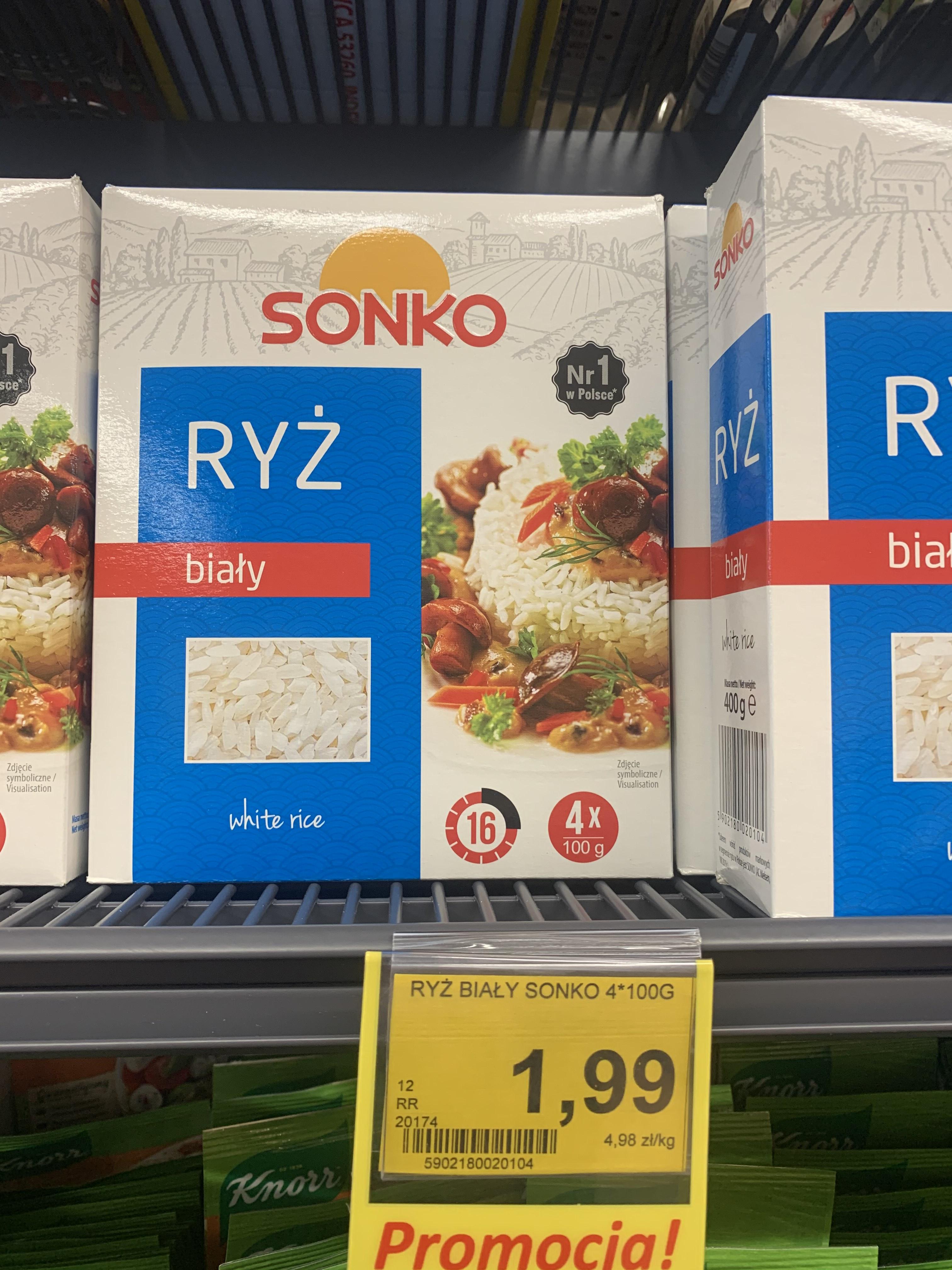 Ryż biały Sonko 4x100g sklep Lewiatan