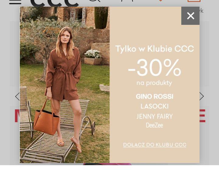 CCC, -30% na wybrane marki w klubie CCC