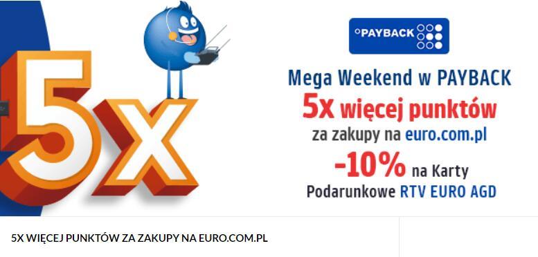 EURO - 5x więcej punktów Payback i -10% na wymianę punktów na karty podarunkowe