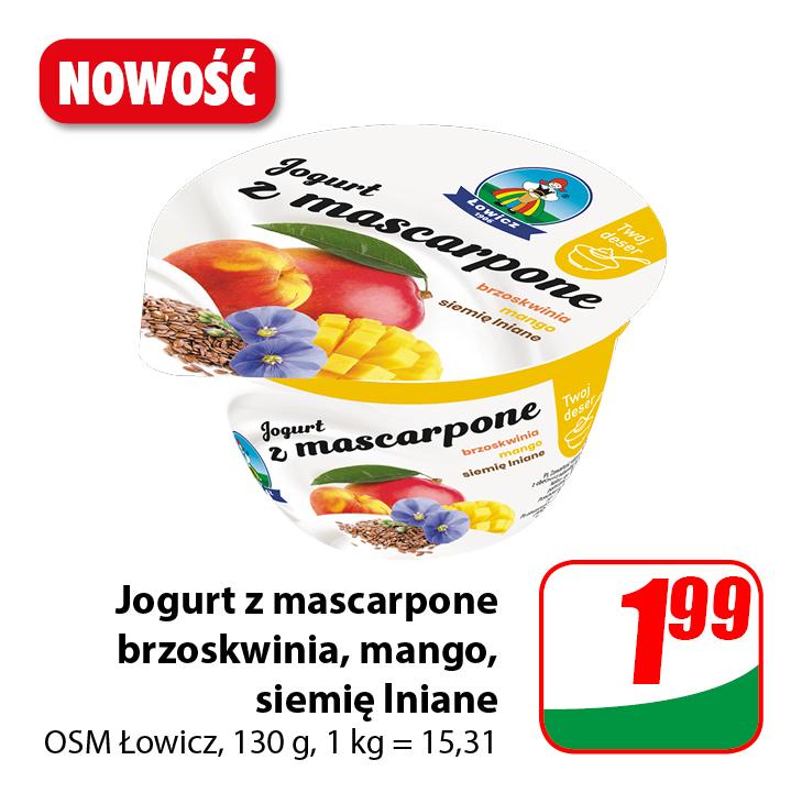 Jogurt z mascarpone Łowicz
