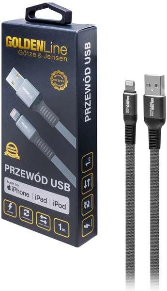 Kabel USB - Lightning GÖTZE & JENSEN Golden Line 1 m