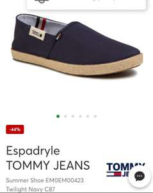 Espardyle Tommy Jeans Summer Shoe EM0EM00423 Twilight Navy C87