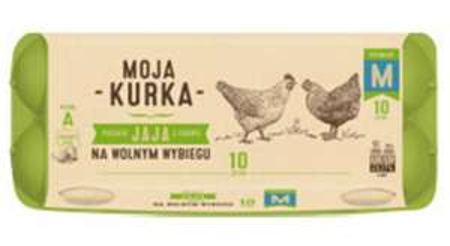 Jaja z chowu na wolnym wybiegu Moja Kurka rozmiar M 2+1 gratis z kartą MB - Biedronka