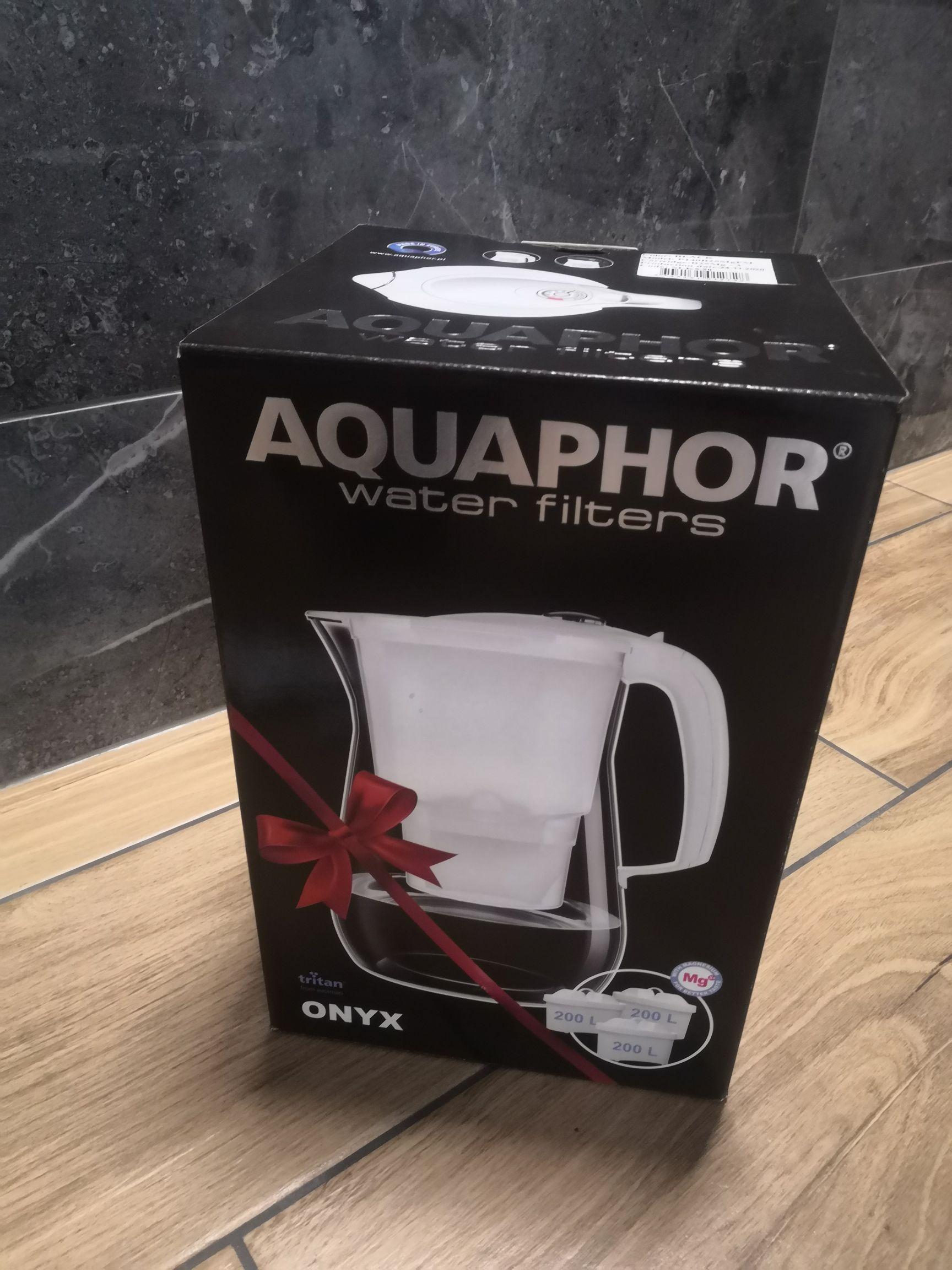 Dzbanek Aquaphor Onyx 4,2L Biały/Czarny, +3 wkłady, Auchan