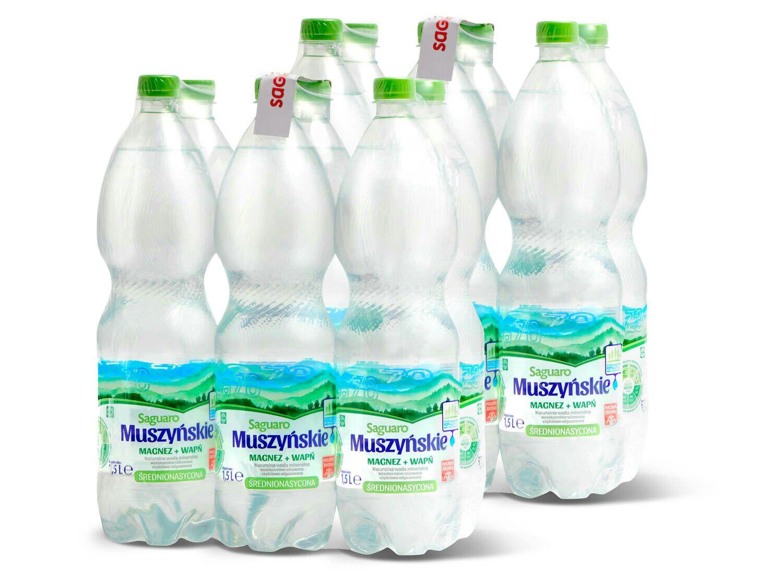 Woda magnezowo-wapniowa Saguaro Muszyńskie 1,5l przy zakupie 2 zgrzewek. Lidl