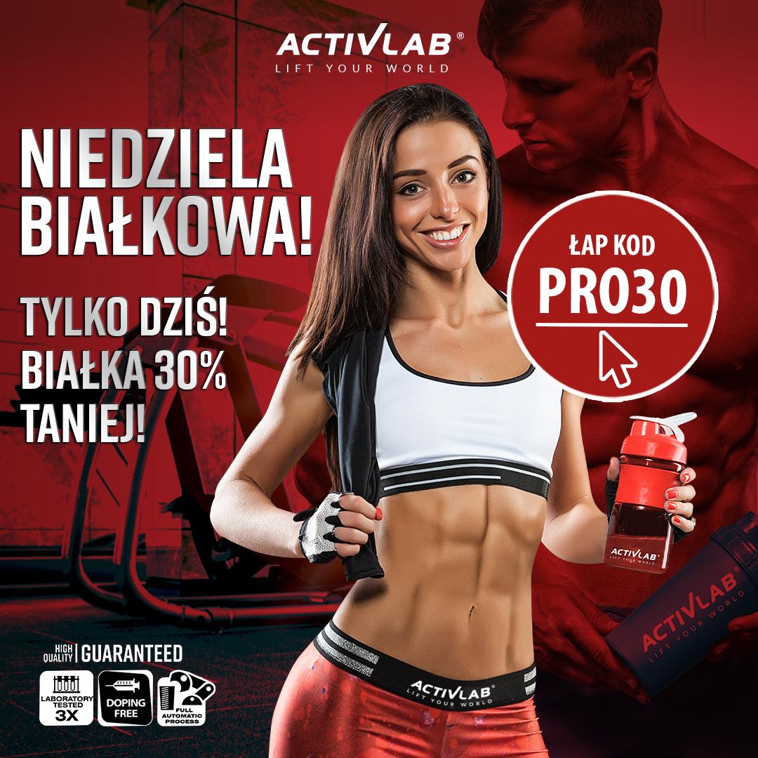 Białkowa niedziela z Activlab, -30% z kodem na odżywki białkowe, activlab.pl