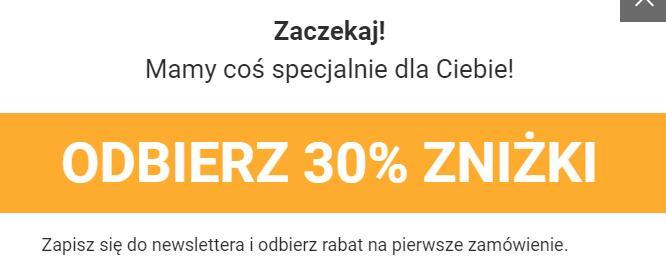 30% zniżki na pierwsze zakupy za zapis do newslettera / born2be