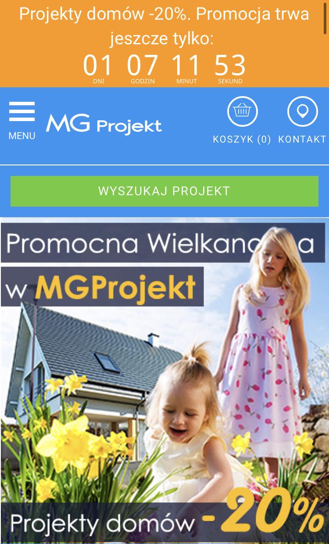MG Projekt -20% na zakup projektu domu
