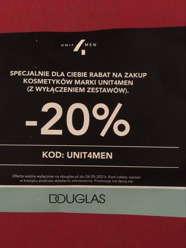 Rabat na zakup kosmetyków UNIT4MEN w Douglas