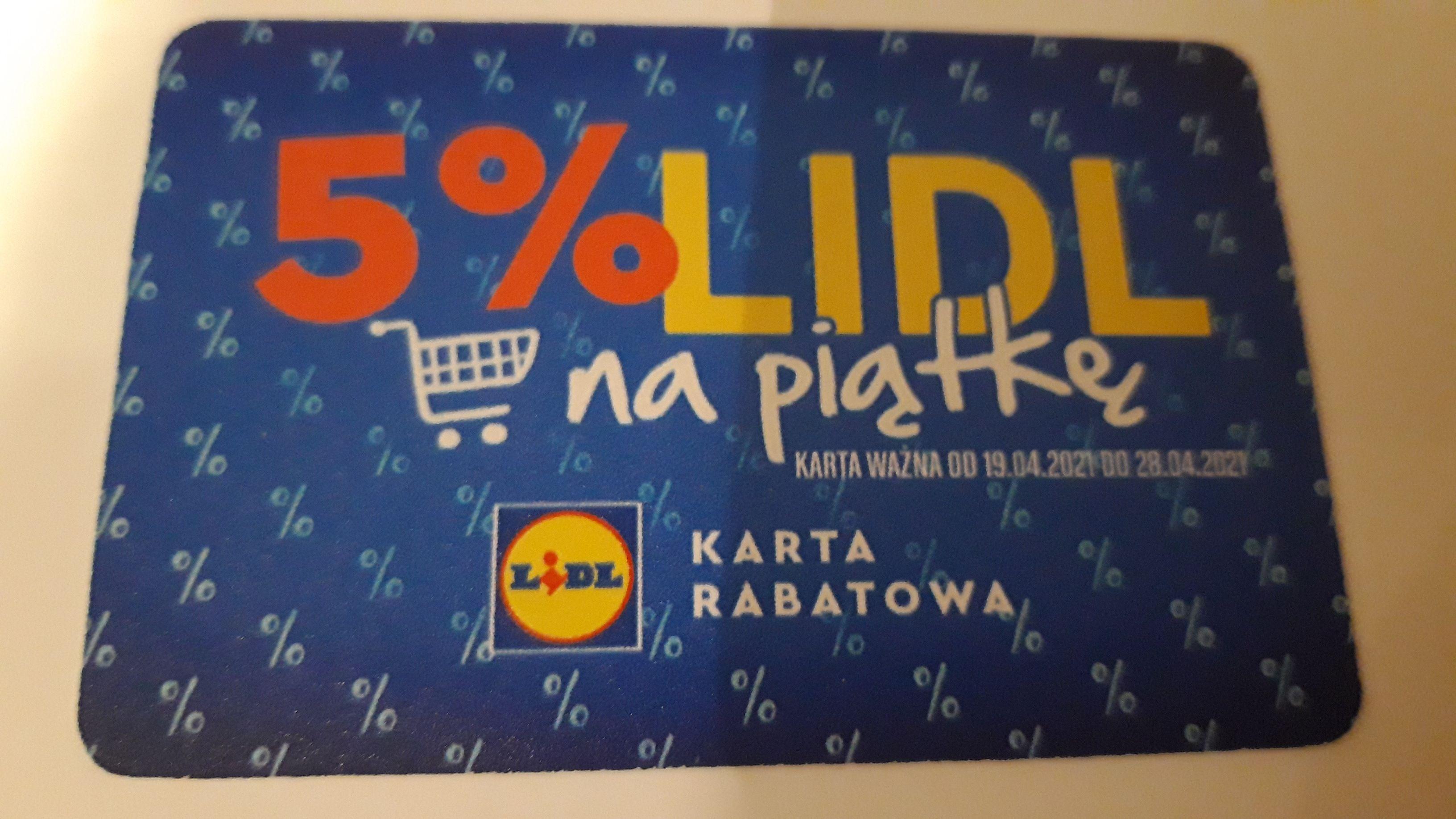 Karta rabatowa -5% na zakupy w płockich Lidlach (19.04-28.04.2021r.), Lidl Płock