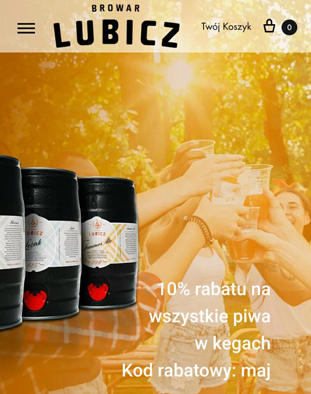 -10% na kegi w browarze Lubicz