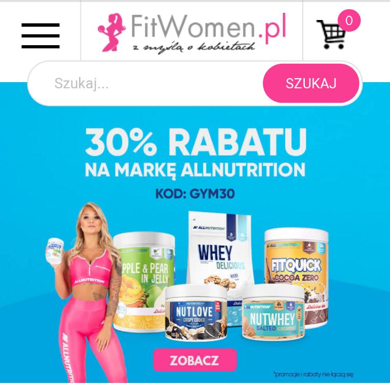 30% rabatu na markę allnutrition