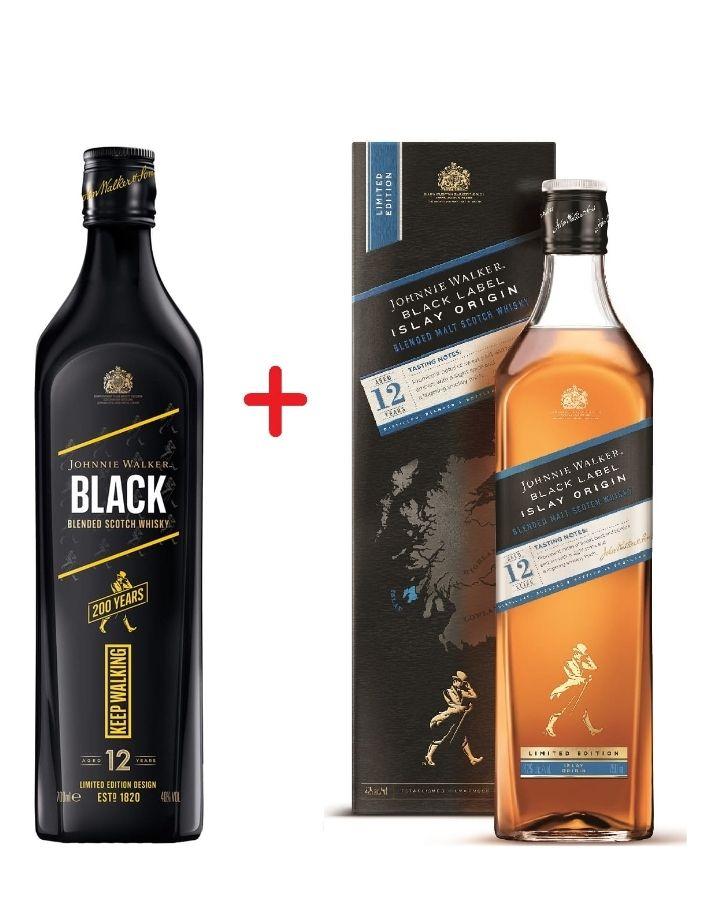 Johnnie Walker Black Icon + Islay Origin 2x 0.7 Whisky @alkooutlet