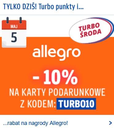 -10% na Karty Podarunkowe Allegro i 5x więcej punktów Payback