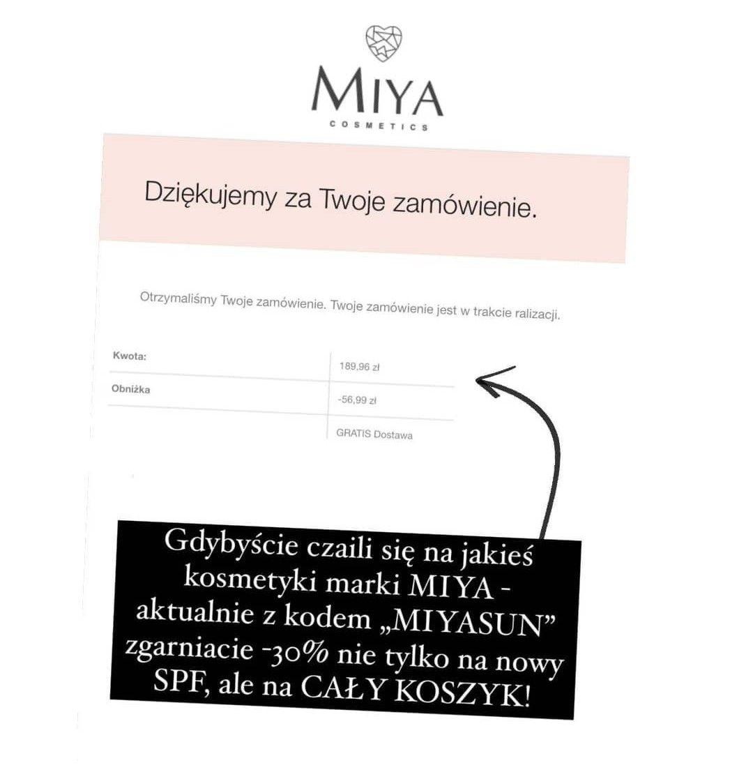 Kosmetyki Miya Cosmetics -30% z kodem